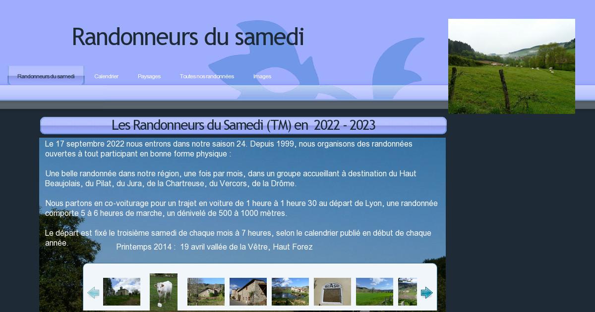 Calendrier Rando Jura 2021 Randonneurs de Saint Rambert   Randonneurs du samedi